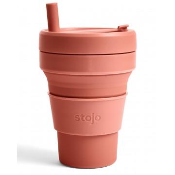 Складной силиконовый стакан Stojo, Мускатный орех, 470мл