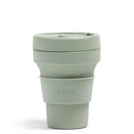 Складной силиконовый стакан Stojo, Шалфей, 355мл