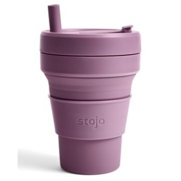 Складной силиконовый стакан Stojo, Слива, 470мл