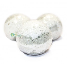 Бомбочка для ванн серо-белая (маленькая)