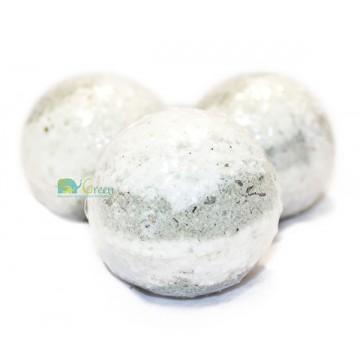 Бомбочка для ванн серо-белая (большая)