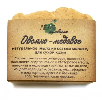Овсяно-медовое мыло, 100 г