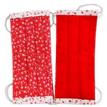 Двухслойная многоразовая защитная маска Красная