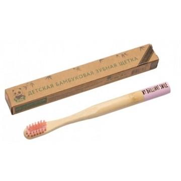Зубная щетка бамбуковая детская с мягкой щетиной