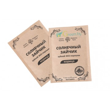 Зубной порошок Солнечный зайчик  Корица, 20 гр